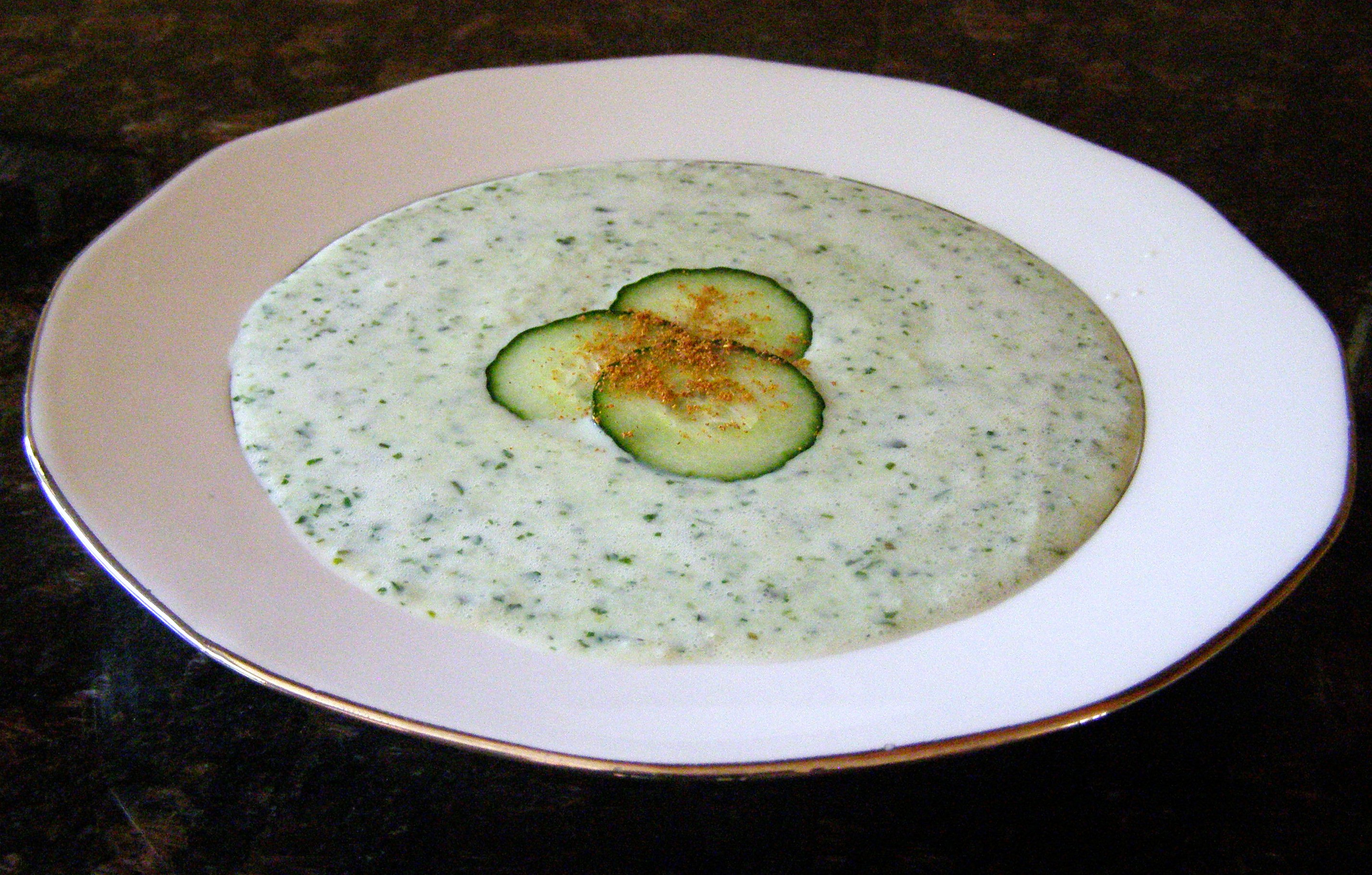 Cucumber soup | The Cooking Frog's Blog